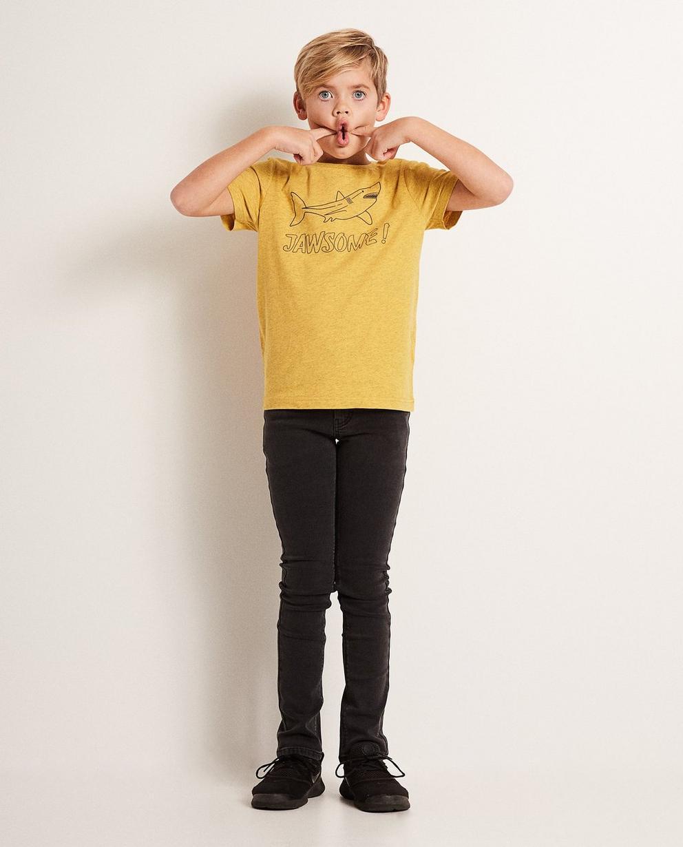 T-Shirt mit Haiprint - und Aufschrift - JBC